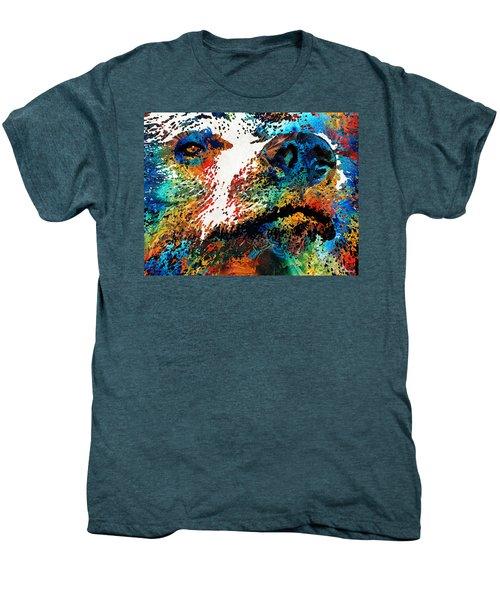 Colorful Bear Art - Bear Stare - By Sharon Cummings Men's Premium T-Shirt