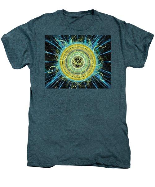 Cosmic Circle Fusion Men's Premium T-Shirt