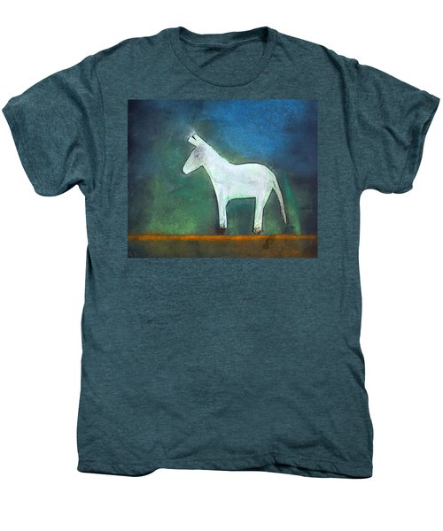 Donkey, 2011 Oil On Canvas Men's Premium T-Shirt by Roya Salari