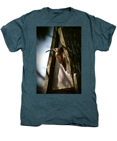 House Wren At Nest Box Men's Premium T-Shirt