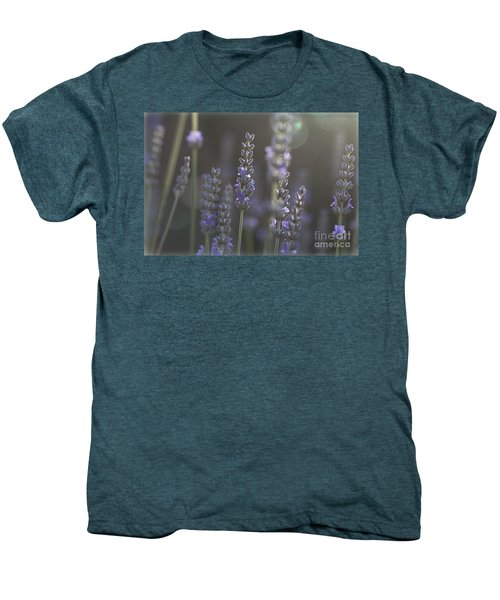 Men's Premium T-Shirt featuring the photograph Lavender Flare. by Clare Bambers