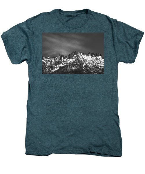 Men's Premium T-Shirt featuring the photograph North Cascade Mountain Range by Yulia Kazansky