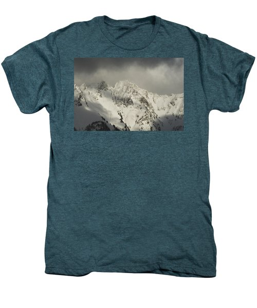Men's Premium T-Shirt featuring the photograph North Cascades Mountains In Winter by Yulia Kazansky