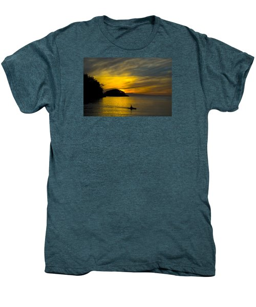 Men's Premium T-Shirt featuring the photograph Ocean Sunset At Rosario Strait by Yulia Kazansky