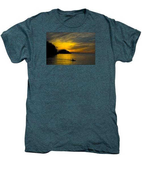Ocean Sunset At Rosario Strait Men's Premium T-Shirt by Yulia Kazansky