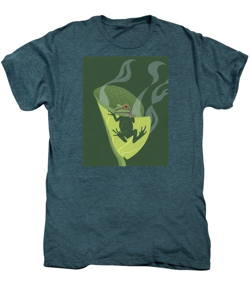 Pacific Tree Frog In Skunk Cabbage Men's Premium T-Shirt by Nathan Marcy