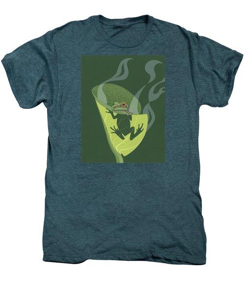 Pacific Tree Frog In Skunk Cabbage Men's Premium T-Shirt