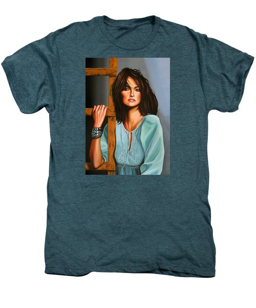 Penelope Cruz Men's Premium T-Shirt by Paul Meijering