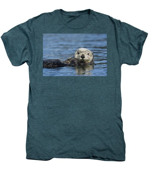 Sea Otter Alaska Men's Premium T-Shirt by Michael Quinton