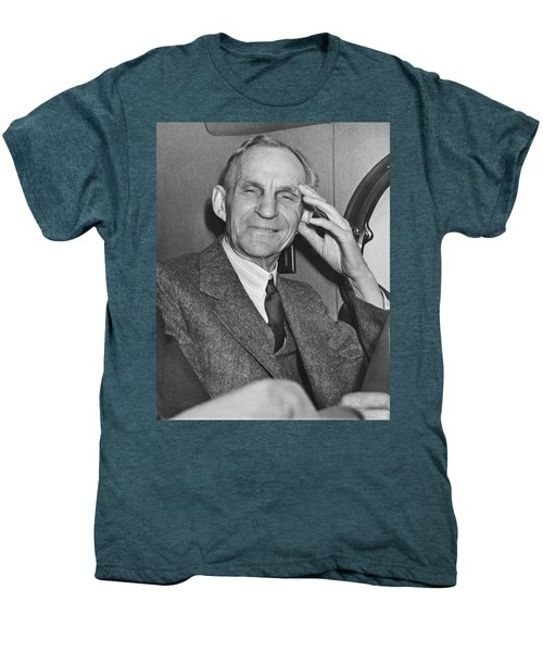 Smiling Henry Ford Men's Premium T-Shirt by Underwood Archives