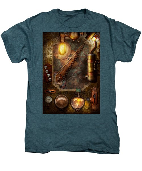 Steampunk - Victorian Fuse Box Men's Premium T-Shirt