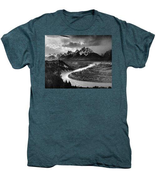 Tetons And The Snake River Men's Premium T-Shirt