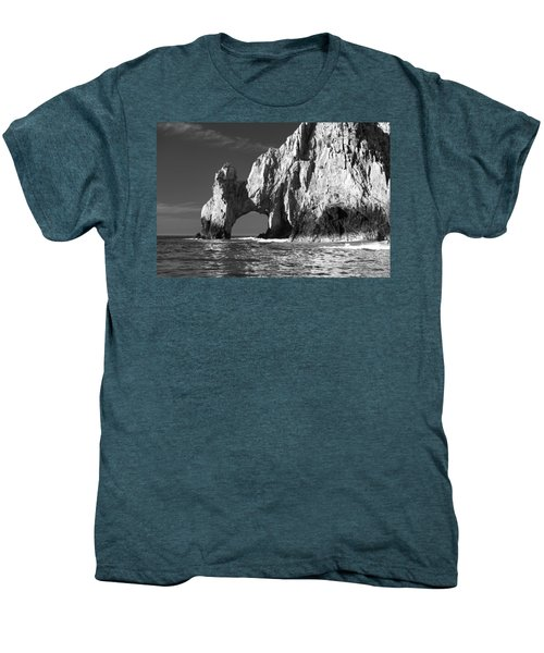 The Arch Cabo San Lucas In Black And White Men's Premium T-Shirt by Sebastian Musial