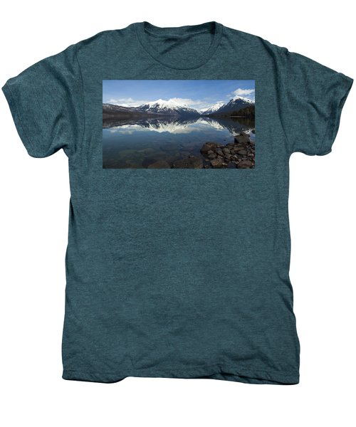 When The Sun Shines On Glacier National Park Men's Premium T-Shirt