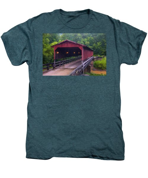 Wv Covered Bridge Men's Premium T-Shirt