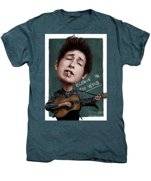 Young Bob Dylan Men's Premium T-Shirt by Andre Koekemoer