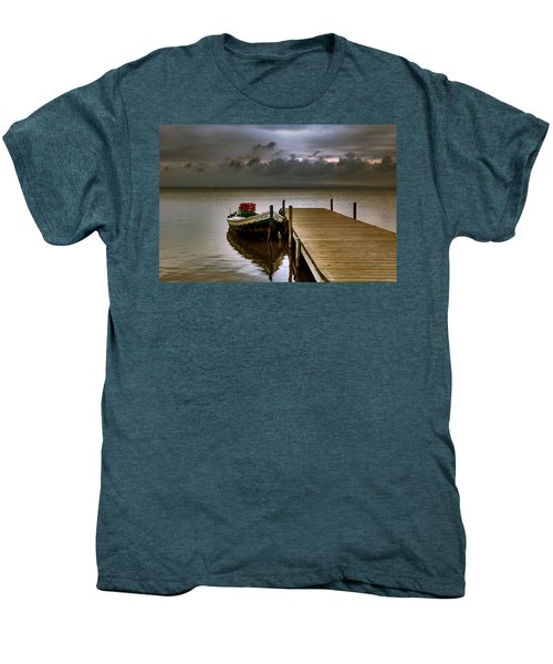 Albufera Before The Rain. Valencia. Spain Men's Premium T-Shirt