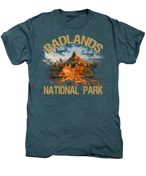 Badlands National Park Men's Premium T-Shirt by David G Paul