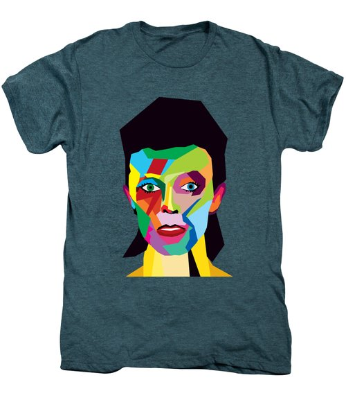 David Bowie Men's Premium T-Shirt by Mark Ashkenazi