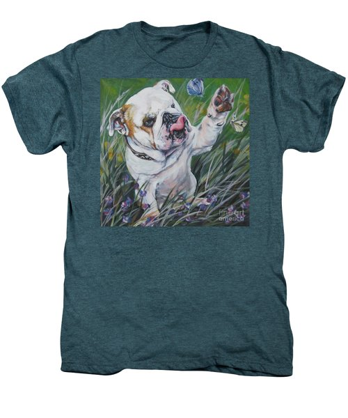 English Bulldog Men's Premium T-Shirt by Lee Ann Shepard