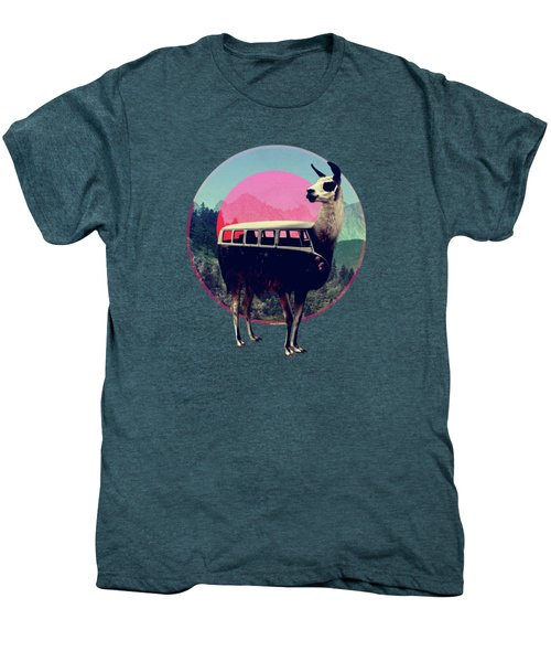 Llama Men's Premium T-Shirt by Ali Gulec