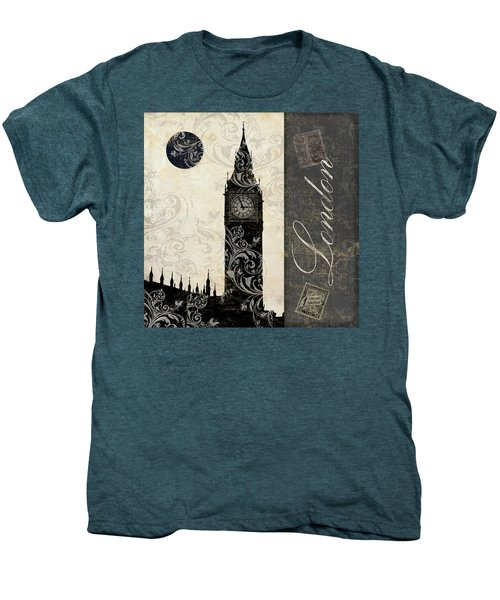 Moon Over London Men's Premium T-Shirt by Mindy Sommers