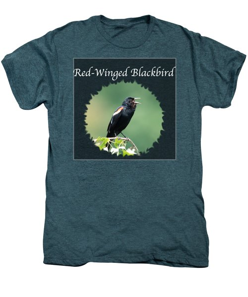 Red-winged Blackbird Men's Premium T-Shirt by Jan M Holden