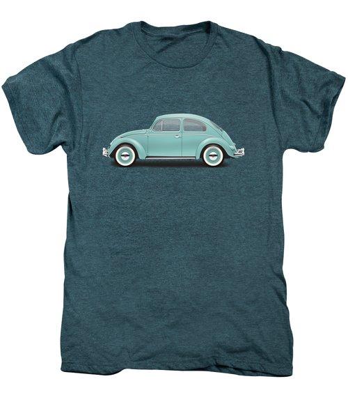 1961 Volkswagen Deluxe Sedan - Turquoise Men's Premium T-Shirt by Ed Jackson