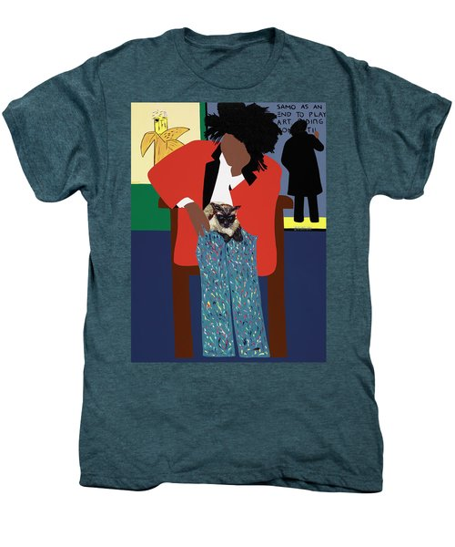 A Tribute To Jean-michel Basquiat Men's Premium T-Shirt
