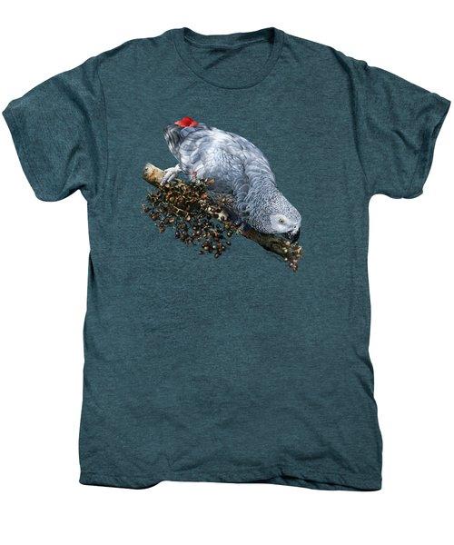 African Grey Parrot A Men's Premium T-Shirt by Owen Bell