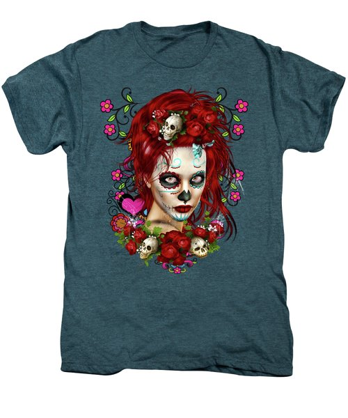 Sugar Doll Red Men's Premium T-Shirt by Shanina Conway