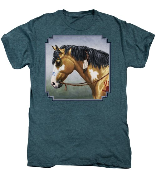 Buckskin Native American War Horse Men's Premium T-Shirt