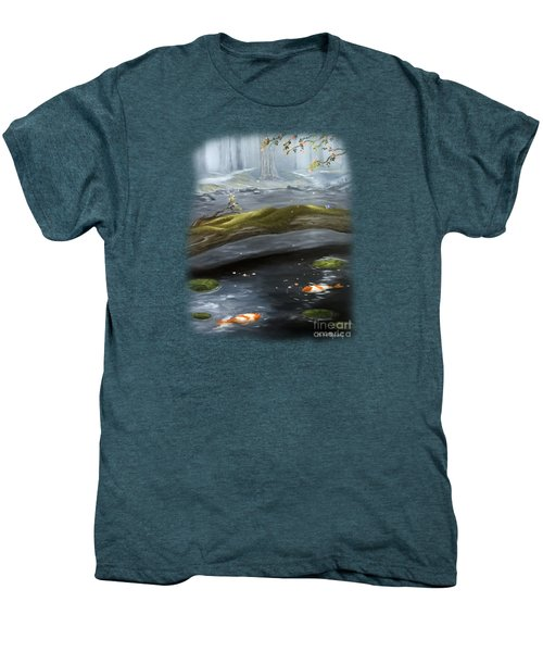 The Wishing Pond  Men's Premium T-Shirt by Susan  Rossell