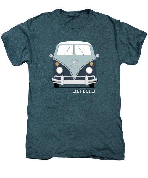 Vw Bus Blue Men's Premium T-Shirt by Mark Rogan