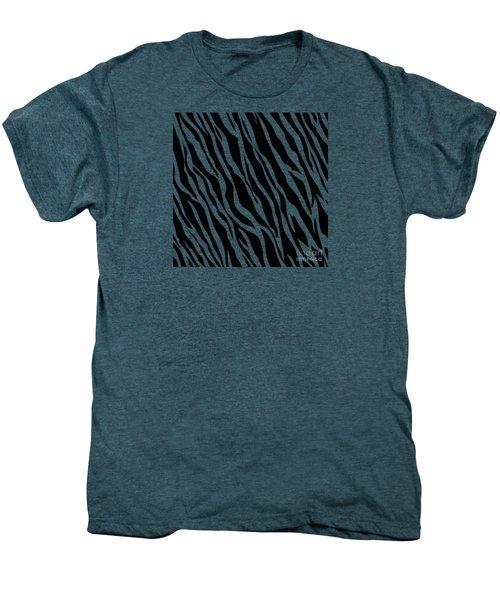 Tiger On White Men's Premium T-Shirt by Mark Rogan