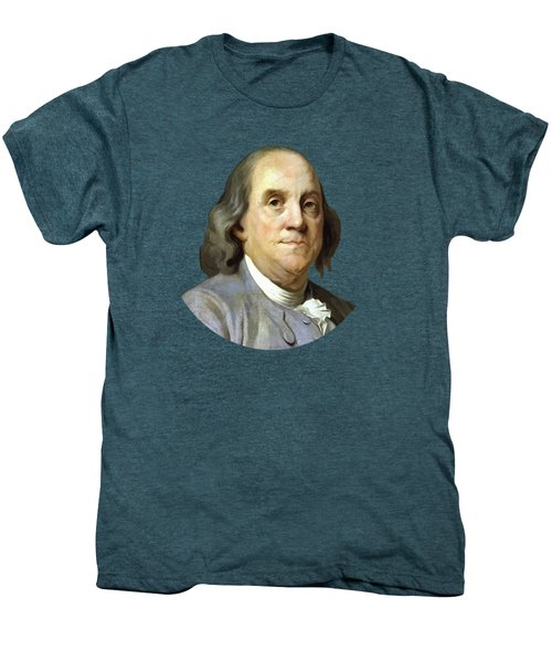 Benjamin Franklin Painting Men's Premium T-Shirt