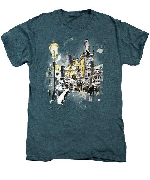 Charles Bridge In Winter Men's Premium T-Shirt