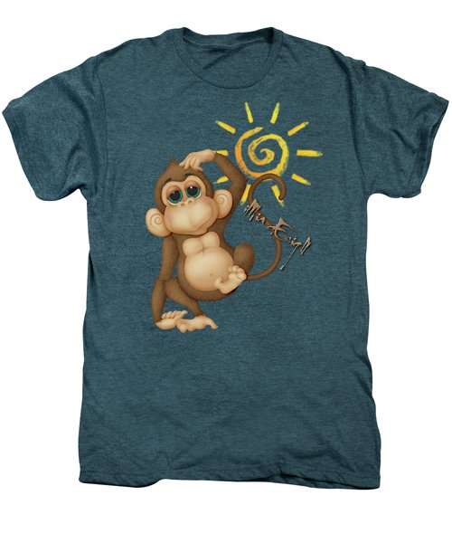 Chimpanzees, Mother And Baby Men's Premium T-Shirt by Maria Astedt