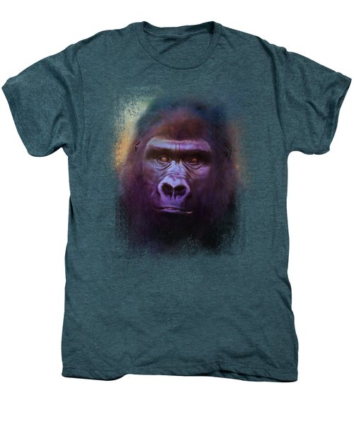 Colorful Expressions Gorilla Men's Premium T-Shirt by Jai Johnson