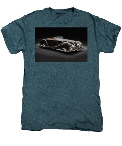 Men's Premium T-Shirt featuring the digital art Delahaye 1930's Art In Motion by Marvin Blaine