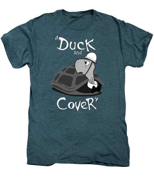 Duck And Cover - Vintage Nuclear Attack Poster Men's Premium T-Shirt by War Is Hell Store