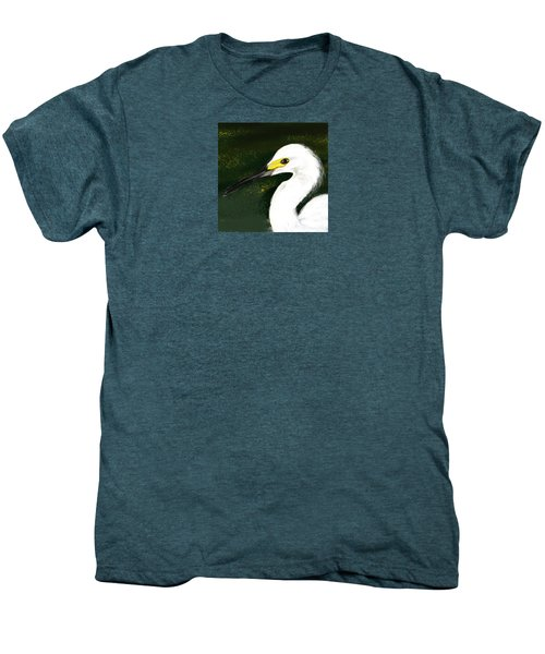 Egret Men's Premium T-Shirt by Beth Klock