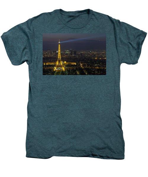 Eiffel Tower At Night Men's Premium T-Shirt