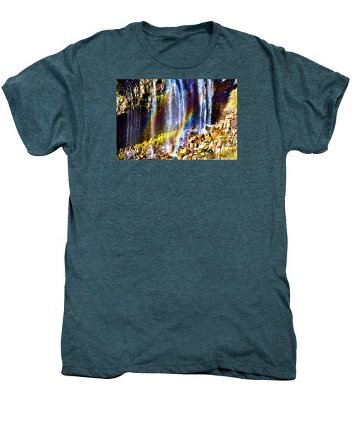 Men's Premium T-Shirt featuring the photograph Falling Rainbows by Anthony Baatz