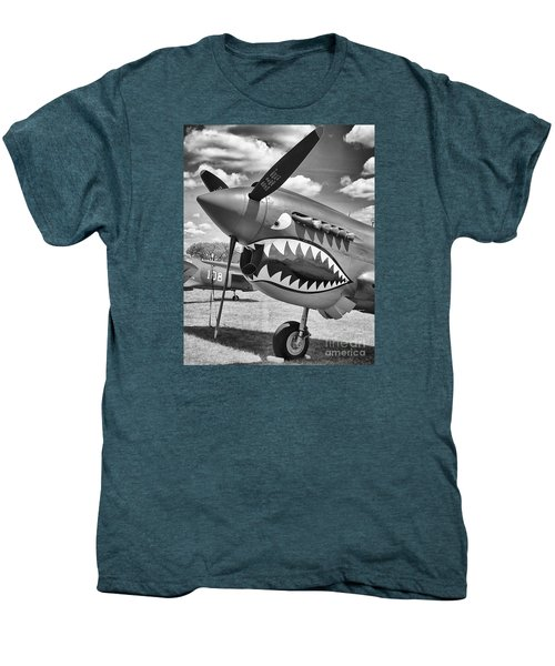 Men's Premium T-Shirt featuring the photograph Fighting Tiger by Ricky L Jones