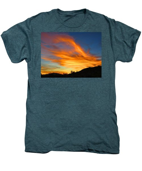 Flaming Hand Sunset Men's Premium T-Shirt