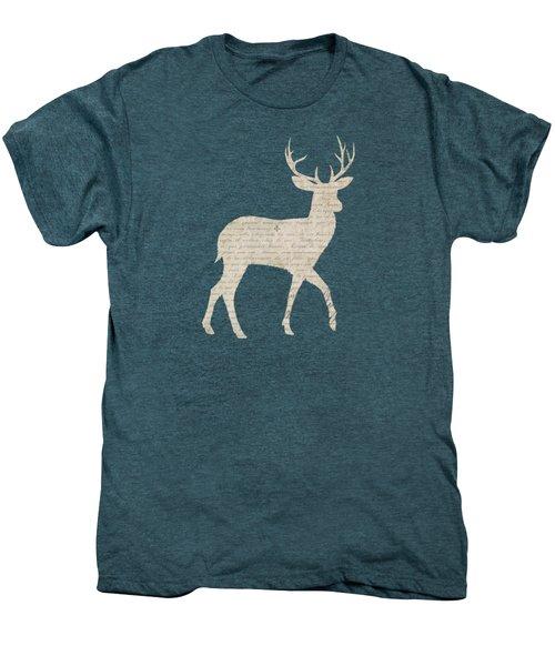 French Script Stag Men's Premium T-Shirt