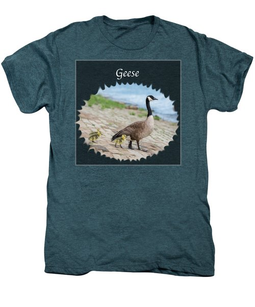Geese In The Clouds Men's Premium T-Shirt by Jan M Holden