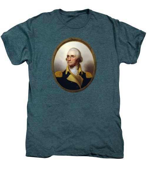 General Washington - Porthole Portrait  Men's Premium T-Shirt