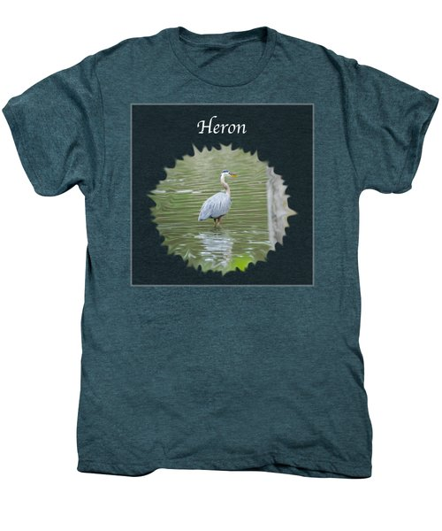 Heron Men's Premium T-Shirt by Jan M Holden